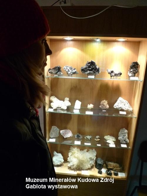 Gablota wystawowa, Muzeum Minerałów Kudowa Zdrój