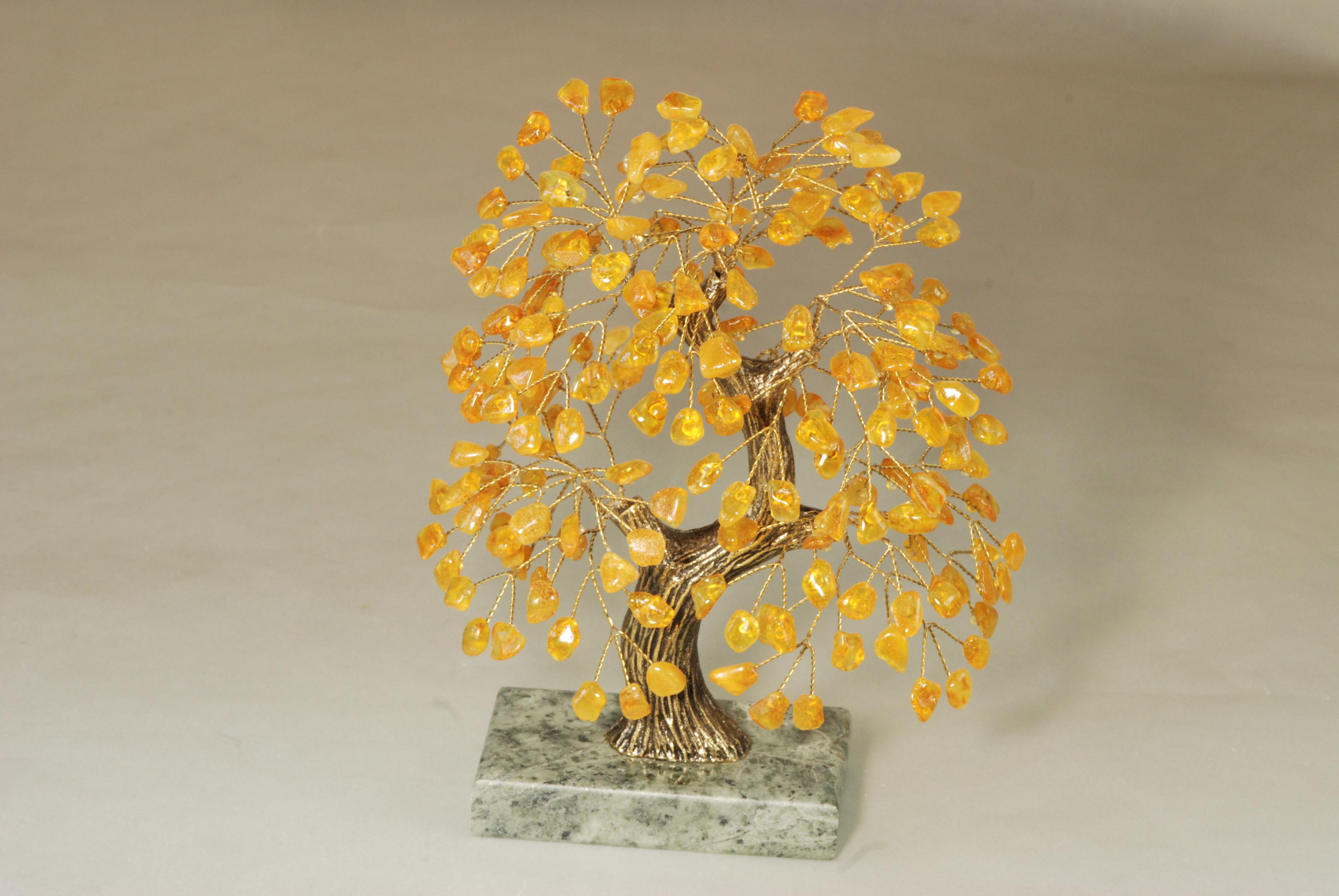 Drzewko szczęścia bursztynowe pamiątki Kudowa Zdrój
