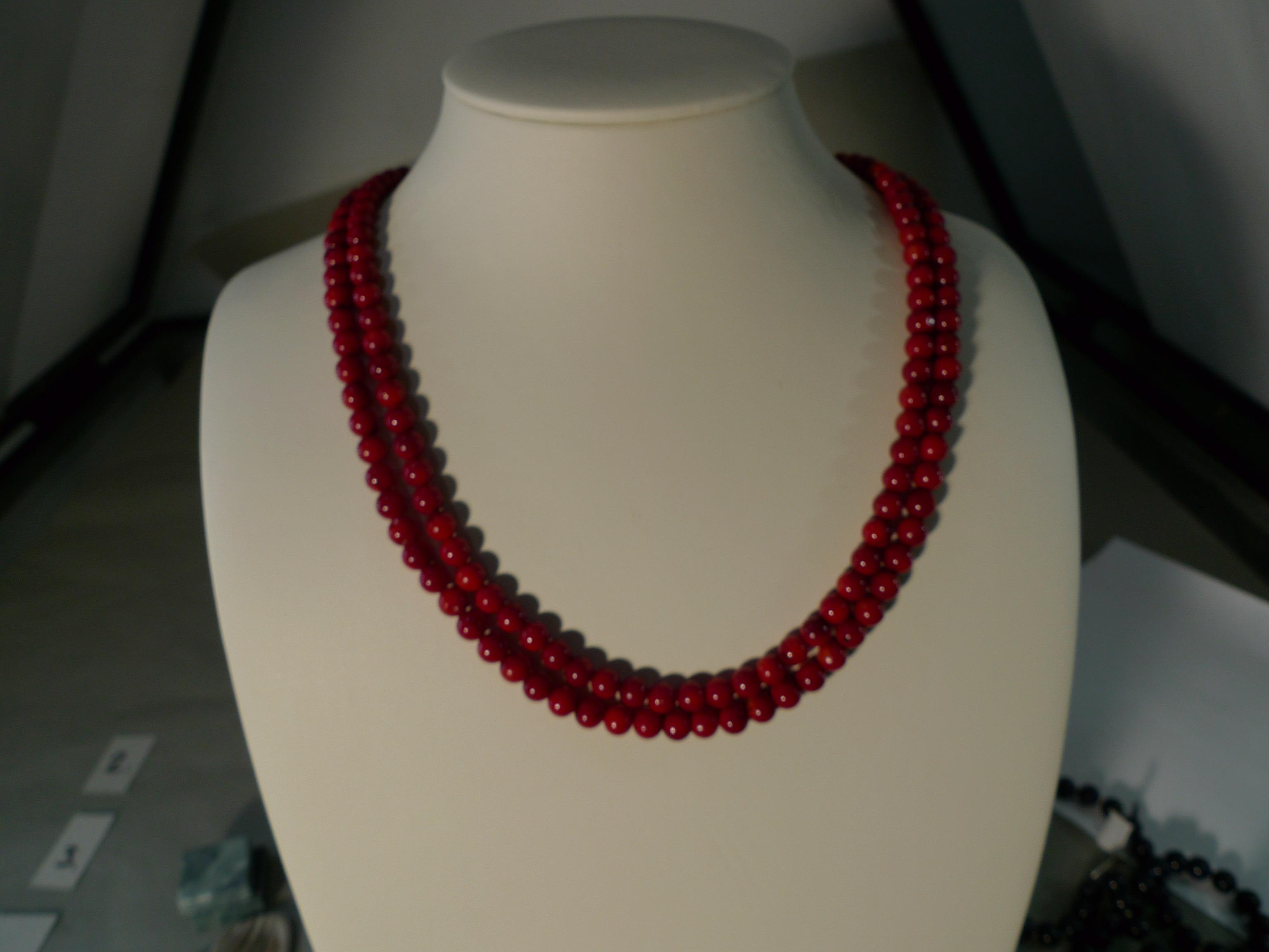 Naszyjnik koral biżuteria Kudowa Zdrój