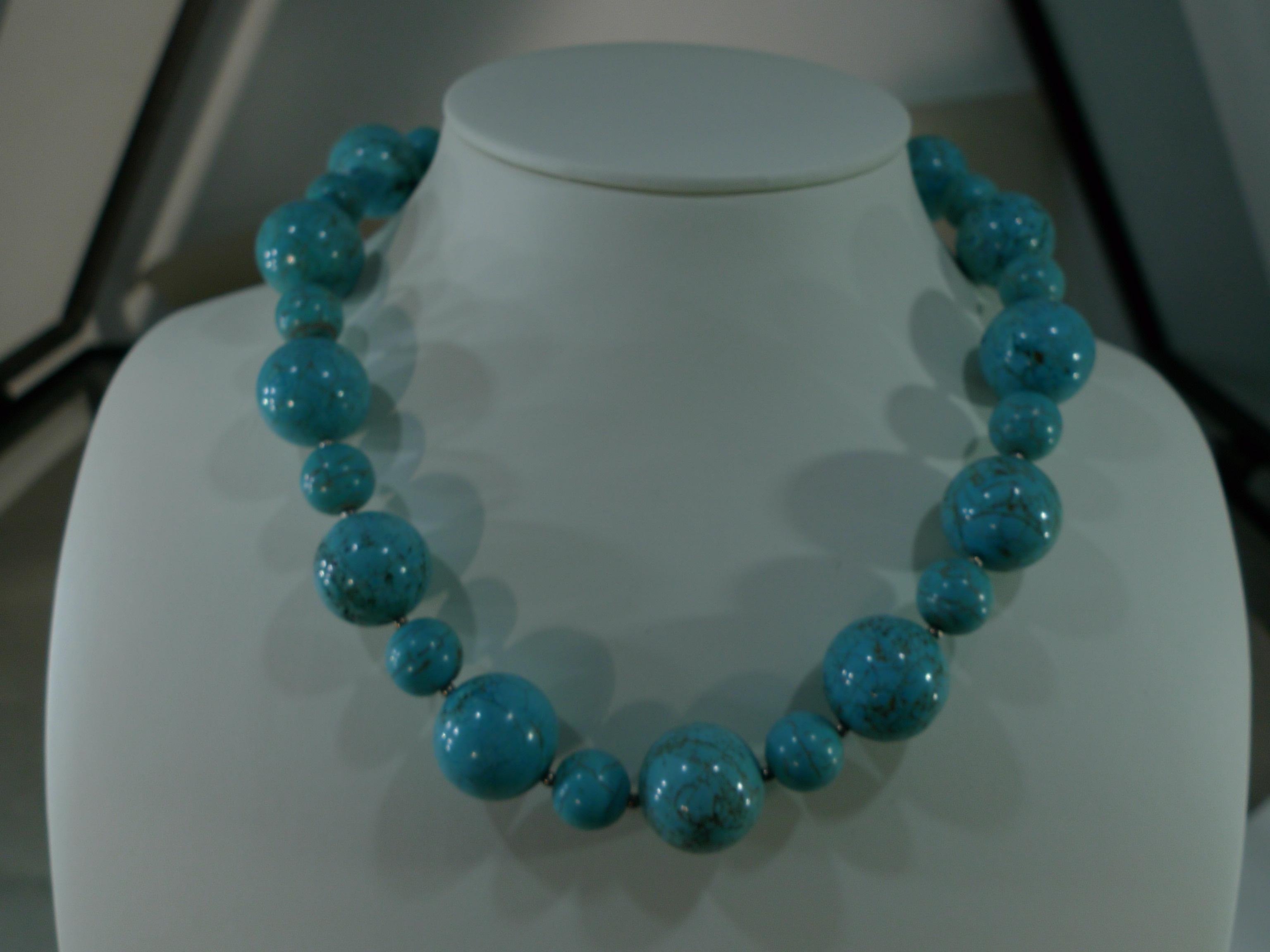 Naszyjnik turkmenit biżuteria Kudowa Zdrój